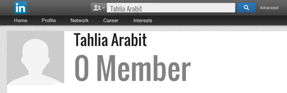 Tahlia Arabit linkedin profile