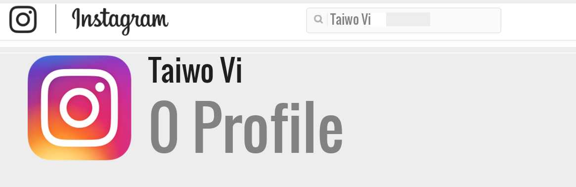 Taiwo Vi instagram account