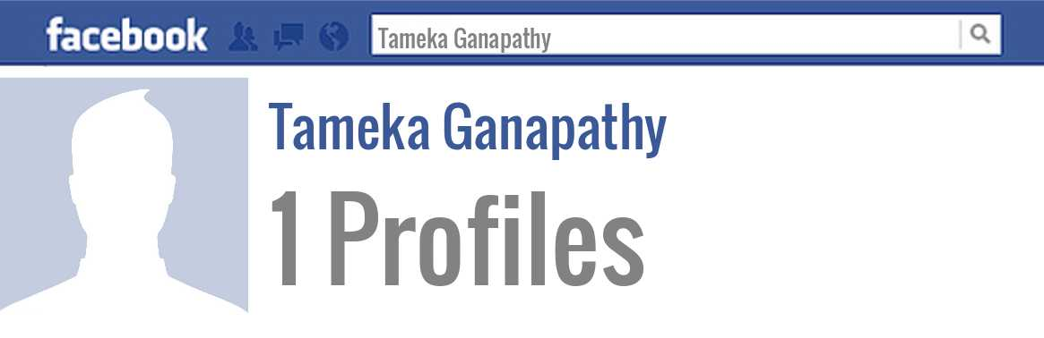 Tameka Ganapathy facebook profiles