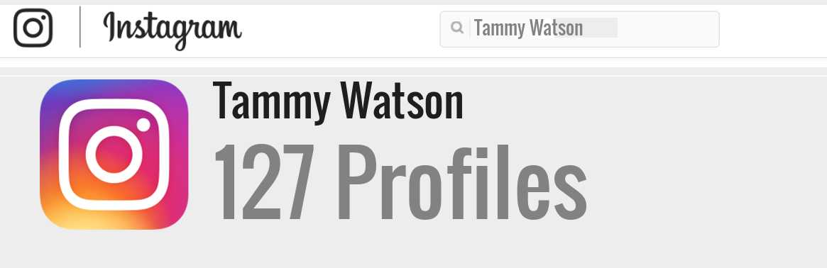 Tammy Watson instagram account