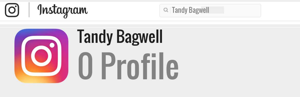 Tandy Bagwell instagram account