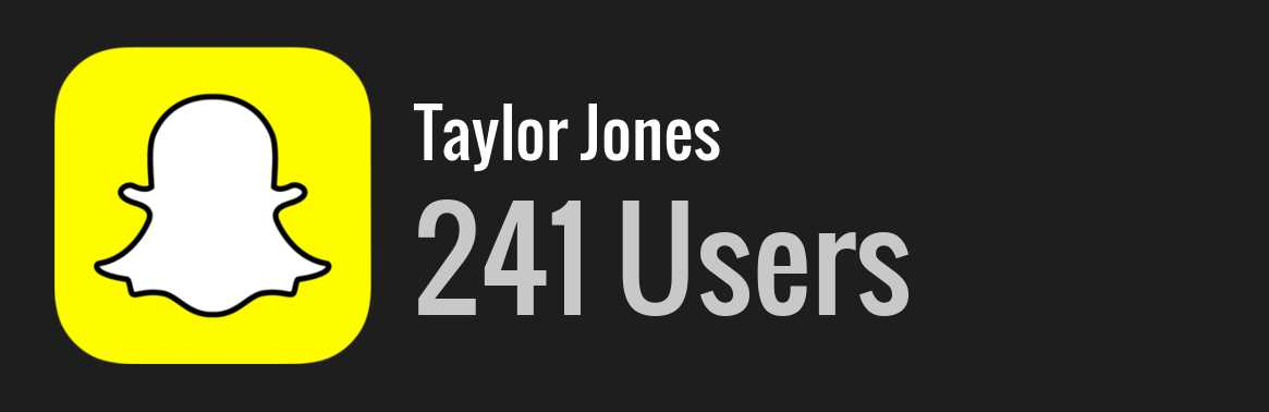 Taylor jones snapchat