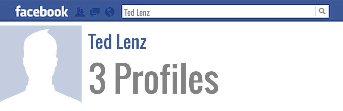 Ted Lenz facebook profiles