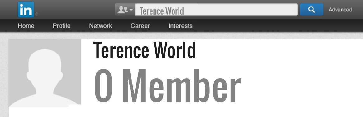 Terence World linkedin profile