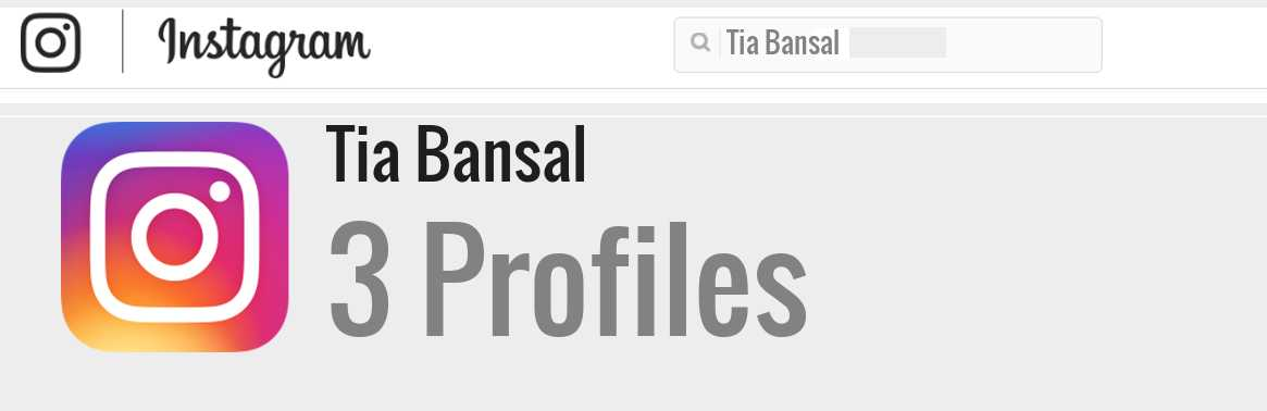 Tia Bansal instagram account