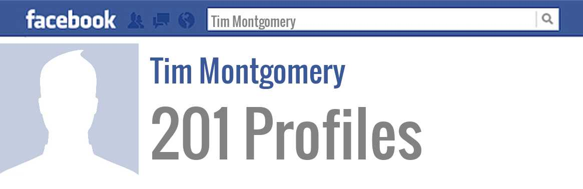 Tim Montgomery facebook profiles