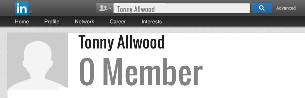 Tonny Allwood linkedin profile