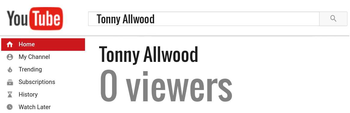 Tonny Allwood youtube subscribers