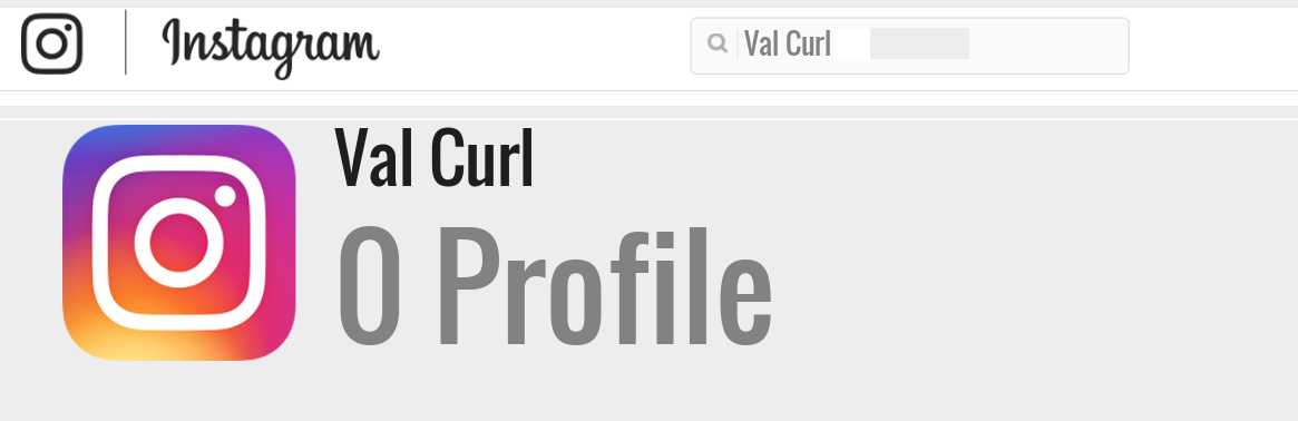 Val Curl instagram account