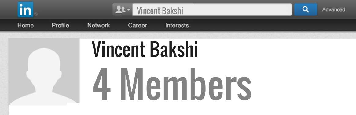 Vincent Bakshi linkedin profile