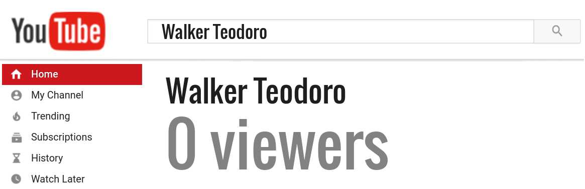 Walker Teodoro youtube subscribers