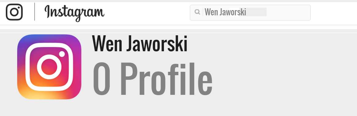Wen Jaworski instagram account