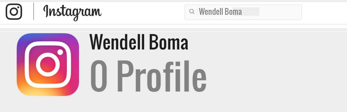 Wendell Boma instagram account