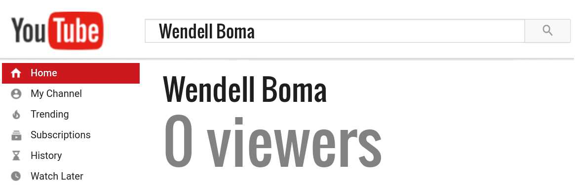 Wendell Boma youtube subscribers
