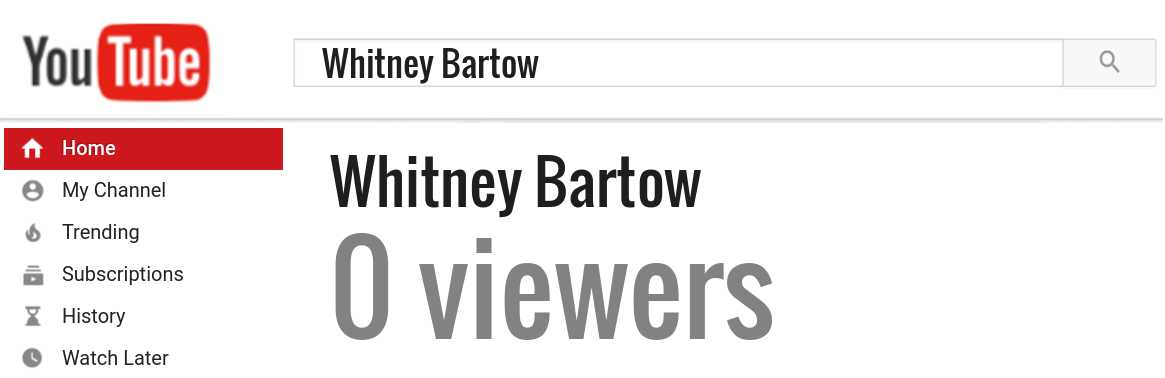 Whitney Bartow youtube subscribers