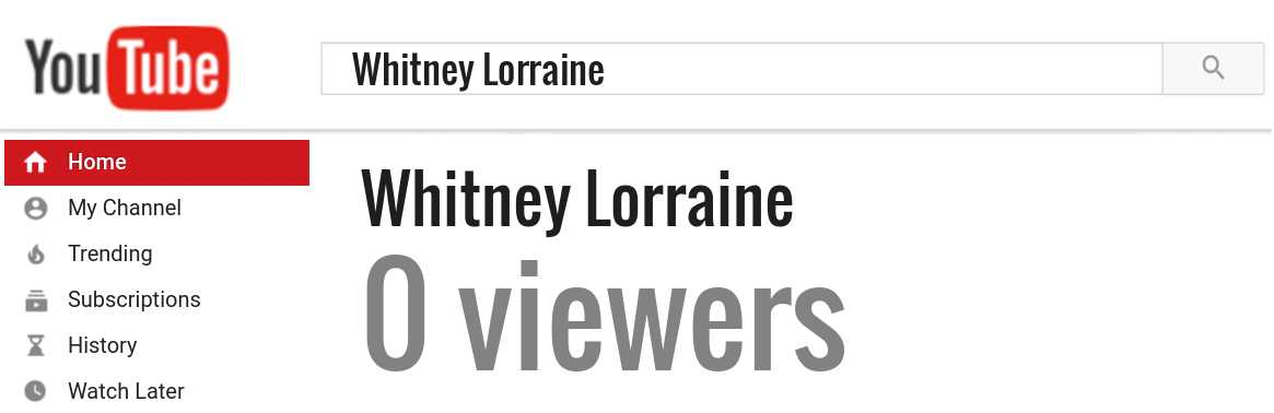 Whitney Lorraine youtube subscribers