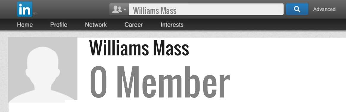 Williams Mass linkedin profile