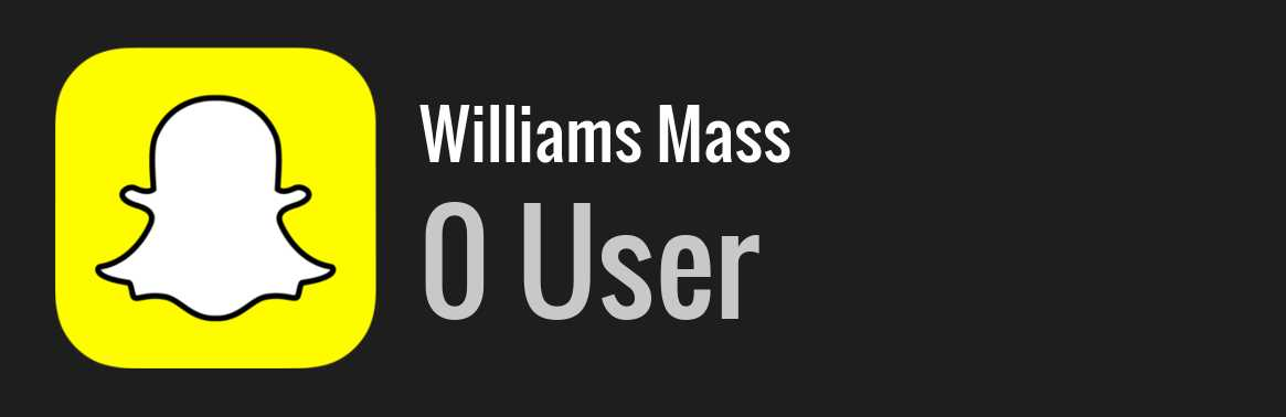 Williams Mass snapchat