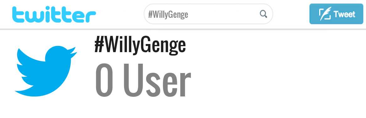 Willy Genge twitter account