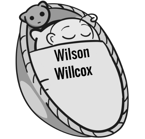 Wilson Willcox sleeping baby