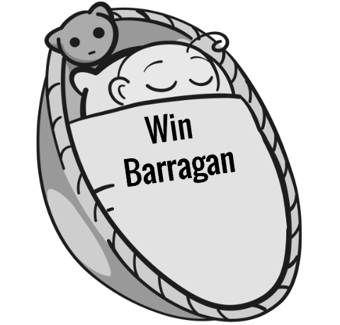 Win Barragan sleeping baby