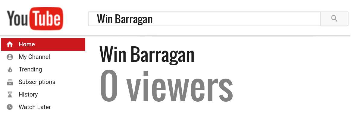 Win Barragan youtube subscribers