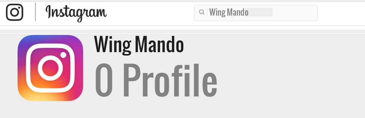 Wing Mando instagram account