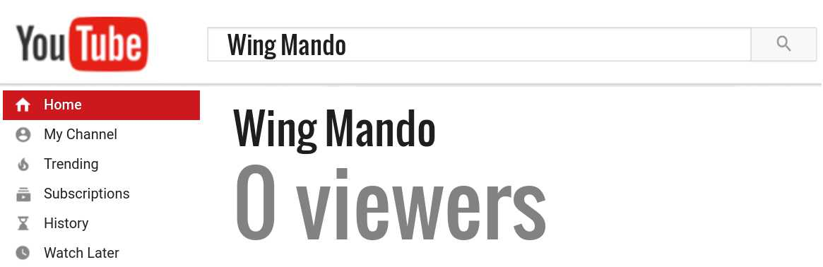 Wing Mando youtube subscribers