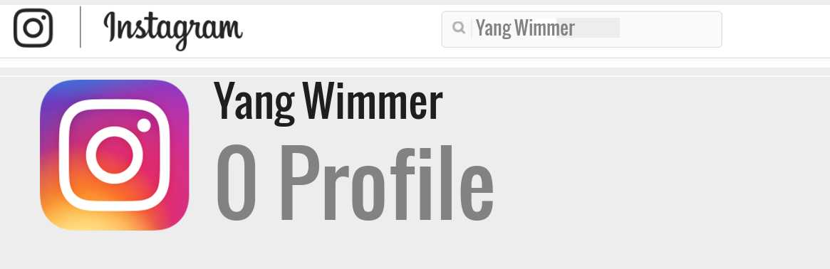 Yang Wimmer instagram account