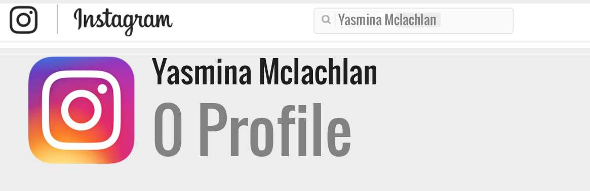 Yasmina Mclachlan instagram account