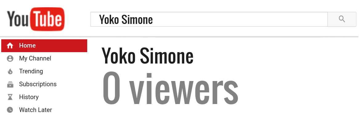 Yoko Simone youtube subscribers