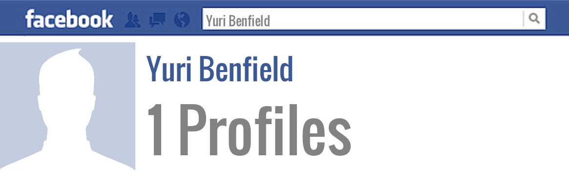 Yuri Benfield facebook profiles