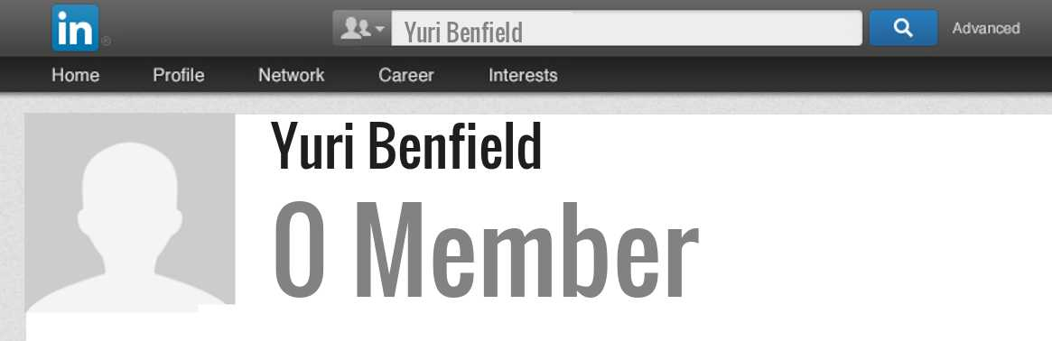 Yuri Benfield linkedin profile