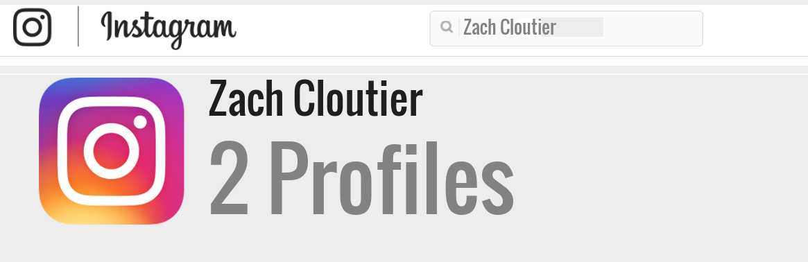 Zach Cloutier instagram account
