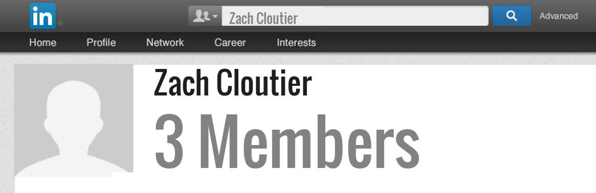Zach Cloutier linkedin profile