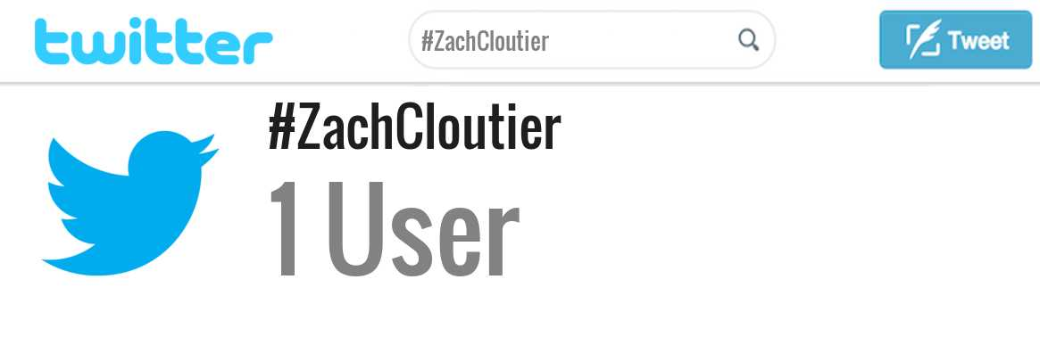 Zach Cloutier twitter account