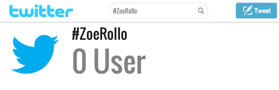 Zoe Rollo twitter account